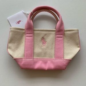 💕NEW💕Ralph Lauren Pink Pony Mini Tote